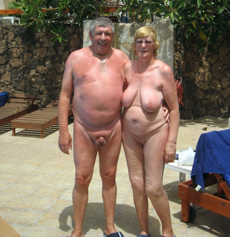 Elderly dames at sunny and sandy..